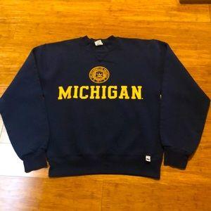 U of Michigan vtg Russell crew neck sweatshirt M